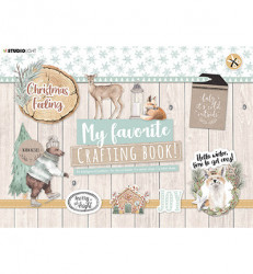 Studio Light A4 Crafting Book Christmas Feeling STANSBLOKSL98