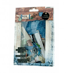 Studio Light Easy Die Cut Paper Set Denim Saturdays EASYDEN645 (Locatie: s2)