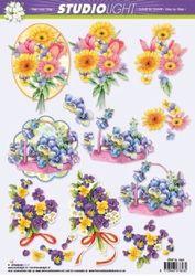Studio Light knipvel bloemen STAP SL 1022 (Locatie: 2552)