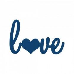 """Tattered Lace snijmal tekst """"Love"""" DX51 (Locatie: NN296)"""