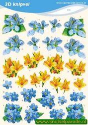 Voorbeeldkaarten knipvel bloemen 2191 (Locatie: 4833)
