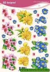 Voorbeeldkaarten knipvel bloemen 2223 (Locatie: 6026)