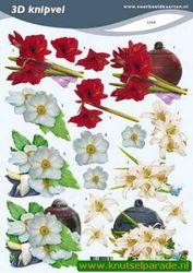 Voorbeeldkaarten knipvel bloemen 2269 (Locatie: 5550)