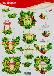 Voorbeeldkaarten knipvel kerstmis 2320 (Locatie: 6744)