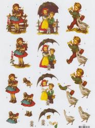 Voorbeeldkaarten knipvel meisje/jongen 8566 (Locatie: 0115)