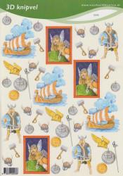 Voorbeeldkaarten knipvel vikings 2243 (Locatie: 1755)