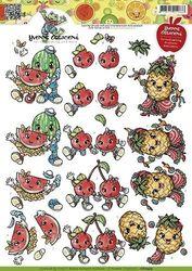 Yvonne Creation's knipvel Fruitpoppetjes CD10475 (Locatie: 4432)