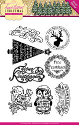 Yvonne Creations Clear Stamp Traditional Christmas YCCS10022 (Locatie: k122)