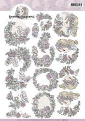 Yvonne Creations knipvel bloemen CD10851 (Locatie: 2243)
