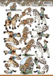 Yvonne Creations knipvel paardrijden CD10937 (Locatie: 1527)