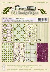 Le Crea Design A5 Romantic Christmas design papier rood 518312 (Locatie: S2)