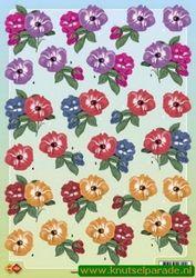Card Deco knipvel bloemen CD 10072 (Locatie: 5516)