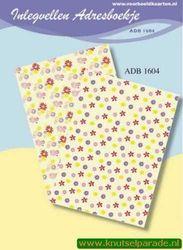 Inlegvellen adresboekje ADB 1604 (Locatie: D29 )