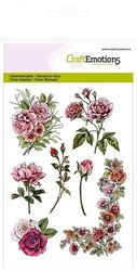 CraftEmotions clearstamps A6 - Botanical Rose Garden 1 (hoek) 130501/1240 (Locatie: NN015)