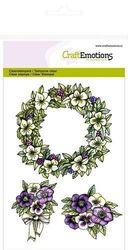 CraftEmotions clearstamps A6 - Bloemenkrans Purple Holiday 130501/1055 (Locatie: NN010)