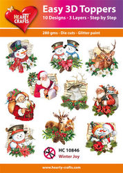 Hearty Crafts Easy 3D Toppers - Winter Joy HC10846 (Locatie: K2)