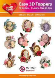 Hearty Crafts Easy 3D Toppers - Brooches HC11127 (Locatie: 5R)