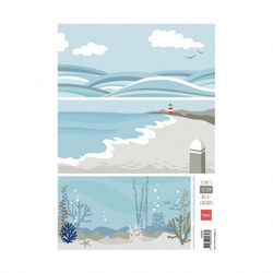 Marianne Design Eline's backgrounds ocean - papier AK0067 (Locatie: 1125)