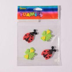 Darice foam stickers lieveheersbeestje en vlinder 1053-03 (Locatie: K3)