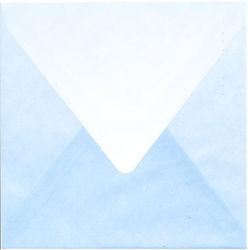 Regenboogenvelop blauw 14x14 cm (Locatie: k3)