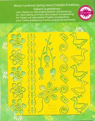 Betsy's snij- embos- prik- en borduurmal Spring BL8029 (Locatie: M114)