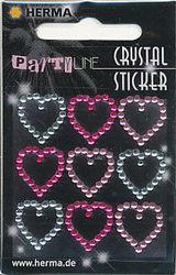 Herma stickers crystal kleine hartjes 1 vel 15386 (Locatie: U191)