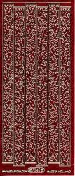 Starform stickervel bloemslingers glitter rood 7045 (Locatie: U044)