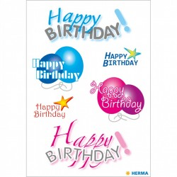 Herma stickers Happy Birthday 3 vel 3408 (Locatie: HE003)
