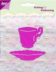 Joy! Crafts snij- en embosmal kop en schotel 6002/0115 (Locatie: M015)