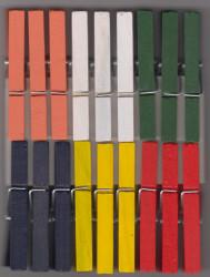 Rayher houten wasknijpers 72 mm / 18 stuks 6131649 (Locatie: )