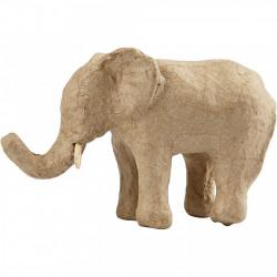 Papier-maché olifant hoogte: 9 cm