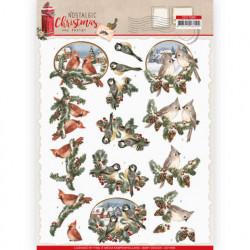 Amy Design knipvel kerstmis vogels CD11560 (Locatie: 1570)