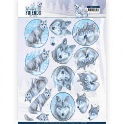 Amy Design knipvel wolven CD11406 (Locatie: 0345)