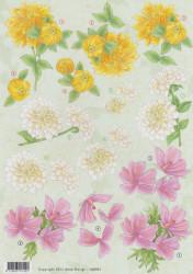 Anne Design knipvel bloemen HJ8001 (Locatie: 2659)