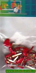 Brads hartje rood 25 stuks 20811/055 (Locatie: 1A )