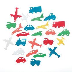 Darice foam stickers vliegtuigen, auto's en treinen 60 stuks 1023-75 (Locatie: K3)
