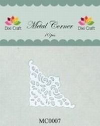 Dixi Craft Metal Corner 35x35 mm wit 10 stuks MC0007 (Locatie: B375 )