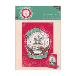 Docrafts A5 Decoupage Card Kit Bellissima Christmas PMA169935 (Locatie: 2927)