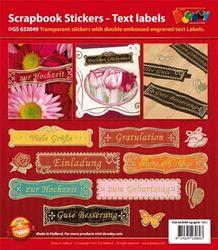Doodey Scrapbook stickers duitse teksten GS 653049 silv (Locatie: 4210)
