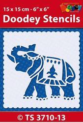 Doodey Stencil Olifant 15 x 15 cm TS3710-13 (Locatie: 4630)