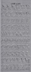 Doodey sticker zilver letters DD6201 (Locatie: B270)