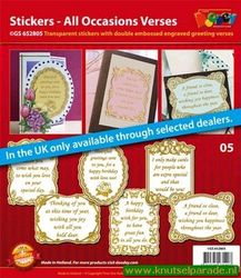 Doodey stickers set all occasions verses GS 652805 (Locatie: 1RB5 )