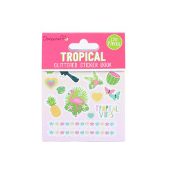 Dovecraft tropical glitter stickerboek, 8 vel (Locatie: c035 )