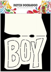 Dutch Doobadoo Card Art Text 'Boy' A5 stencil 470.713.648 (Locatie: 1347)