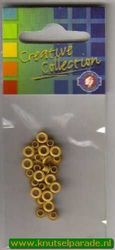 Eyelets oker geel 25 stuks nr. 20407/01 (Locatie: 1B )