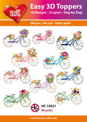 Hearty Crafts Easy 3D Toppers Bicycles HC10621 (Locatie: K2)