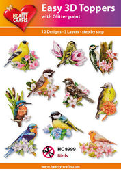 Hearty Crafts Easy 3D Toppers - Birds HC8999 (Locatie: K2)
