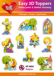 Hearty Crafts Easy 3D Toppers - Religion HC8884 (Locatie: 5R)