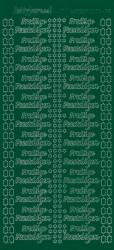Hobbydots stickervel feestdagen donker groen (Locatie: BB171)