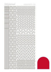 Hobbydots stickervel rood STDA124 (Locatie: N254 )